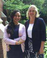 Sweta Roy with Julie Kuhlman